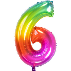 Folieballon cijfer 6 Yummy Gummy