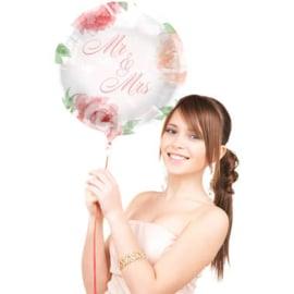 Folieballon Bruiloft Rozen