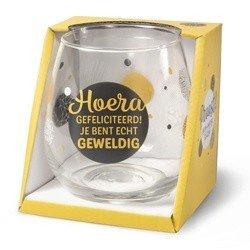Wijn/water glas  -  Hoera