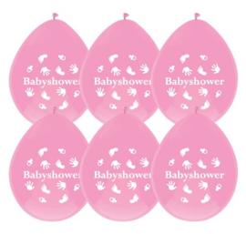 Ballonnen Babyshower roze