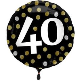 Folieballon Glossy Black 40 Jaar