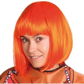 Pruik Oranje Bobline