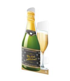 Champagne kaart Gefeliciteerd