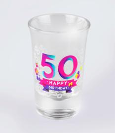 Happy shot glasses - 50 jaar