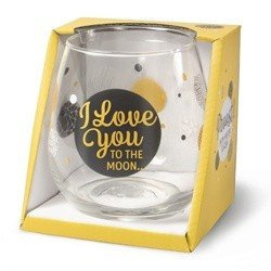 Wijn/water glas  -  I love you