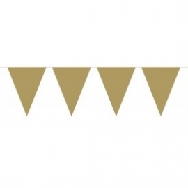 Mini vlaggenlijn goud