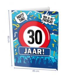 Window Sign - 30 jaar