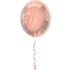 Folieballon Elegant Lush Blush 50 Jaar