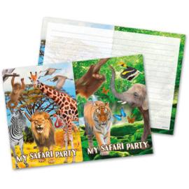 Safari Party uitnodigingen