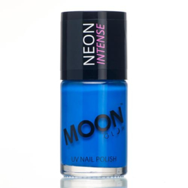 Neon UV nail polish intense blue