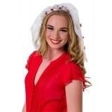 Witte tiara bruid