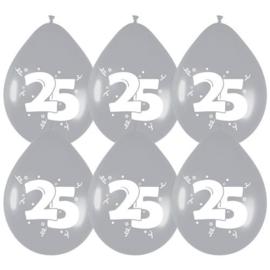 Ballonnen Zilver '25'