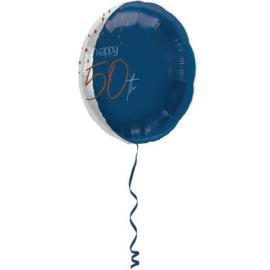 Folieballon Elegant True Blue 50 Jaar