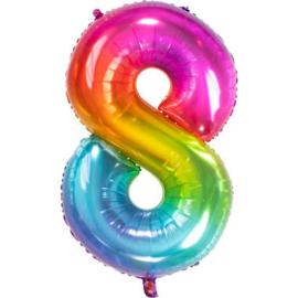 Folieballon cijfer 8 Yummy Gummy