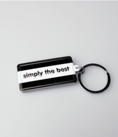Black & White keyring - Simply the best