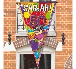 Mega puntvlag Sarah