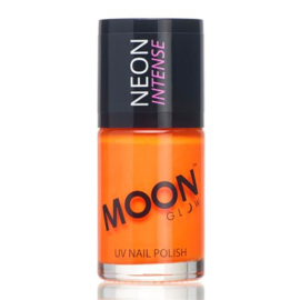 Neon UV nail polish intense orange
