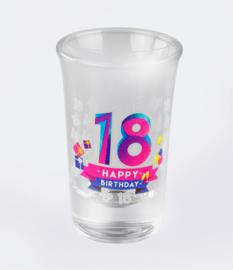 Happy shot glasses - 18 jaar