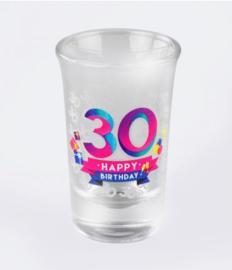 Happy shot glasses - 30 jaar