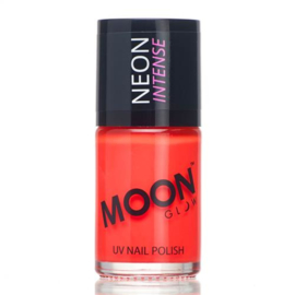 Neon UV nail polish intense red