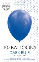 10 Ballonnen Donker blauw