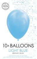 10 Ballonnen Licht blauw