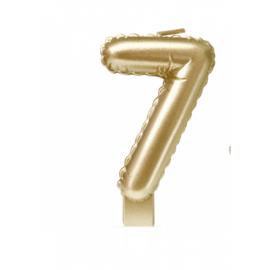 'folie ballon' kaarsje goud 7