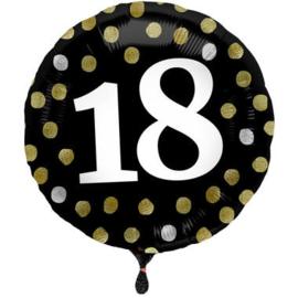 Folieballon Glossy Black 18 Jaar