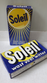 Vintage pakjes Soleil wasmiddel