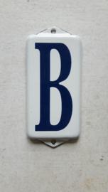 Emaille huisnummer toevoeging B