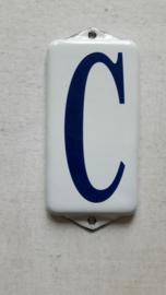 Emaille huisnummer toevoeging C