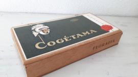 Oud sigarenkistje Cogetama Floralia