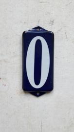 Emaille huisnummer 0