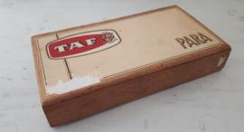 Oud sigarenkistje Taf Para