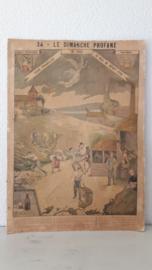 Oude Franse religieuze poster