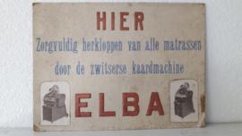 Oud uniek reclamebord kaardmachine