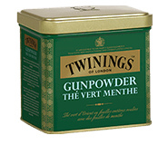 Twinings Losse thee in blik Gunpowder Green Mint 200 gram