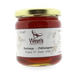 Weyn's Kastanje honing 500 gram (Vloeibaar)