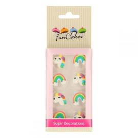 FunCakes Suiker Decoratie Eenhoorn & Regenboog