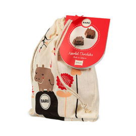 Barú Dreamy Hippos Assorted Chocolates String Bag 6 st.