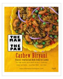 The MAN with the PAN Cashew Biryani (*zie tekst)