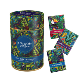 BIO Chocolate and Love Cadeaublik Minireepjes Dark