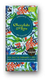 BIO Chocolate and Love Sea Salt Caramel 55%