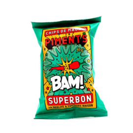 Superbon Chips Rode Peper 45 gram