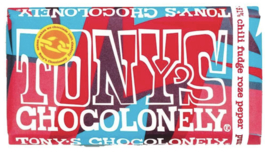 Tony's Chocolonely Puur Chili Fudge Roze Peper LIMITED EDITION