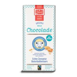 JD Diesch Luxe Chocoladereep Melk met Zeezout & Boterbabbelaars