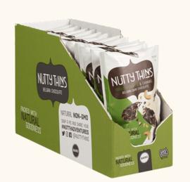 BARÚ 12 x 50 gram Nutty Thins Dark Chocolate Roasted Cashew & Caramel