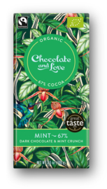 BIO Chocolate and Love Mint 67%