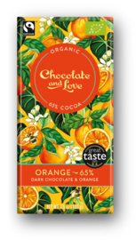 BIO Chocolate and Love Orange 65%