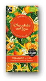 BIO Chocolate and Love Orange 65%